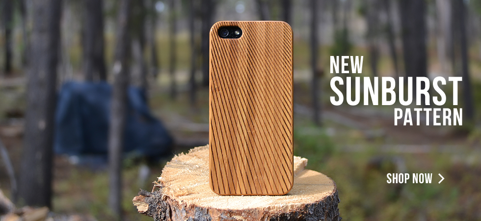 Engraved Wood iPhone Cases