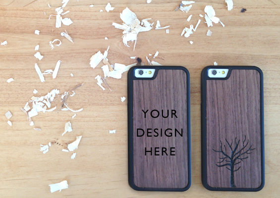 Custom Engraved Wood iPhone Cases